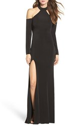 La Femme Women's Cold Shoulder Jersey Gown