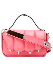 Marco De Vincenzo Claw Design Shoulder Bag Pink Purple