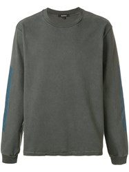 Yeezy Printed Sleeve Sweatshirt Brown