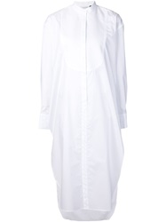 Protagonist Band Collar Shirt Style Tunic White
