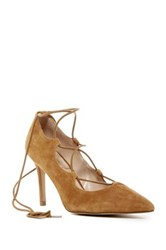 Sole Society Madeline Lace Up Pump Brown