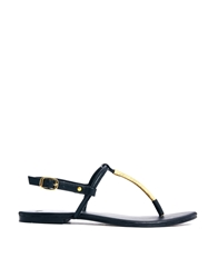 Asos Fortress Leather Sandals Black