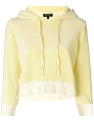 Juicy Couture Velour Shrunken Hooded Pullover Yellow And Orange