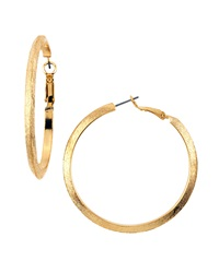 Panacea Brushed Golden Hoop Earrings