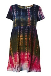 Topshop Tie Dye Smock Dress By Glamorous Tall Pink