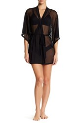 Josie Mesh Robe Black