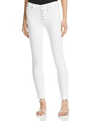 Hudson Ciara High Rise Exposed Button Jeans In White