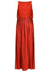 Maxandco. Portofin Cocktail Dress Party Dress Coral Red Metallic