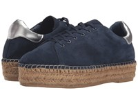 Steven Pace Navy Suede Women's Lace Up Casual Shoes Blue