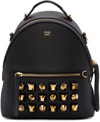 Fendi Black Studded Messenger Backpack