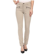 Nydj Zip Ponte Leggings Oatmeal Women's Casual Pants Brown