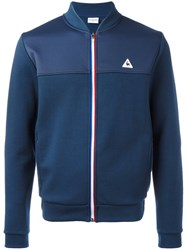 Le Coq Sportif Striped Zip Sweatshirt Blue