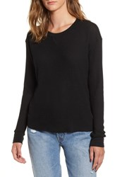 Rvca Cited Waffle Knit Pullover Top Black