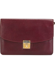 Celine Vintage Envelope Clutch Red