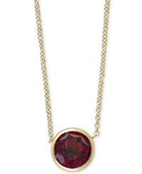Effy Rhodolite Garnet 18 Pendant Necklace 9 10 Ct. T.W. In 14K Gold