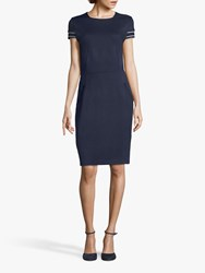 Betty And Co. Jersey Shift Dress Navy Blue