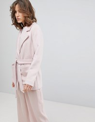 Selected Cropped Trench Coat Pink
