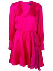Federica Tosi Pleated Detail Dress Pink