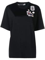 Love Moschino Patch Detail T Shirt Black
