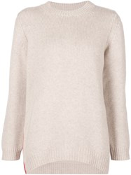 Chinti And Parker Side Zip Sweater Nude And Neutrals
