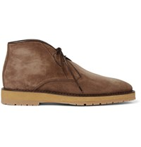 Berluti Brushed Suede Desert Boots Brown