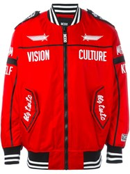 Ktz 'Vision Culture' Bomber Jacket Red