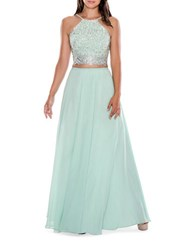 Decode 1.8 Two Piece Halter Gown Mint