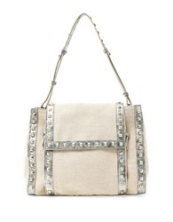 Big Buddha Sheena Studded Shoulder Bag Silver