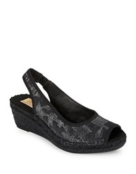 Vidorreta Sofia Sling Back Wedges Black