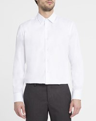 M.Studio White Aristide Poplin Classic Collar Slim Fit Shirt