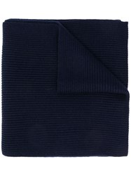 Ralph Lauren Ribbed Scarf Blue