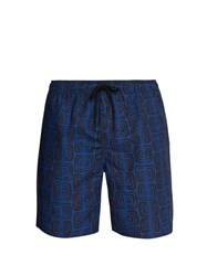 Saturdays Nyc Timothy Abstract Print Swim Shorts Blue Multi