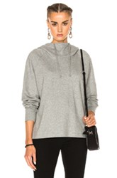 James Perse Oversize Hoodie Sweatshirt In Gray