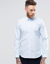 Paul Smith Shirt With Contrast Under Cuff In Sky Tailored Slim Fit Sky Blue