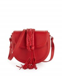 Altuzarra Ghianda Leather Saddle Bag Red