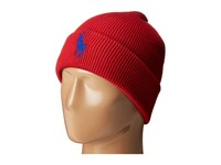 Polo Ralph Lauren Big Pony Cuff Hat Rl Red 2000 Bright Royal Caps