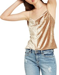 Bardot Cowlneck Relaxed Fit Camisole Sand