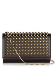 Christian Louboutin Paloma Spike Embellished Leather Clutch Black Multi