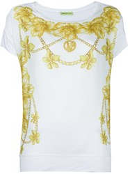 Versace Jeans Floral Print T Shirt White