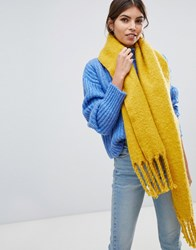 Oasis Knitted Scarf With Tassels In Yellow