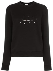 Saint Laurent Star Logo Print Sweatshirt Black