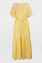 Vanessa Bruno Lizon Dress Jaune Citron