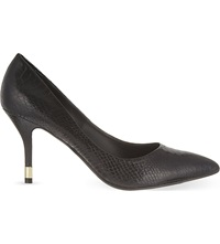Kg By Kurt Geiger Evie Snake Print Courts Black