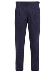 The Gigi Ciak Pleat Detail Cropped Trousers Navy