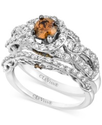 Le Vian Ring Set Chocolate Diamond 1 1 2 Ct. T.W. Engagement Ring Set In 14K White Gold