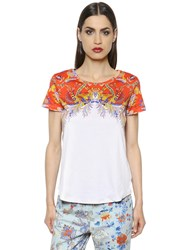 Etro Printed Cotton Jersey T Shirt