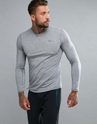 Saucony Running Freedom Long Sleeve Top In Grey Sam800018 Dgh Grey