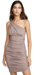 Susana Monaco Ruched Twisted Shoulder Dress Coco