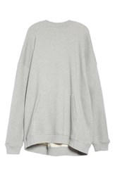 Y Project Draped Hoodie Gris Chine