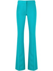 Moschino Flared Mid Rise Trousers Blue
